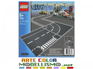 LEGO 7281 CITY Incrocio a T e curva