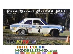 BELKITS BEL 007 FORD ESCORT RS1600 Mk 1 1972 Daily Mirror RAC Rally WINNER