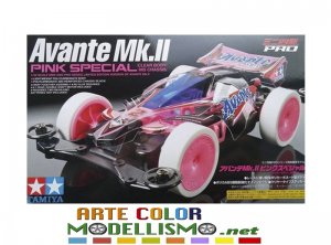 MINI 4WD TAMIYA 95061 Avante MK.II Pink Special PRO MS chassis