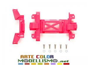 MINI 4WD TAMIYA ITEM 95474 Copertura ingranaggi rosa telaio MS Reinforced Gear Cover Pink MS Chassis.