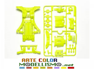 MINI 4WD TAMIYA ITEM 95494 F-MA REINFORCED CHASSIS YELLOW Fluorescent Yellow Chassis Set