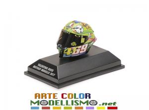 MINICHAMPS PMA ITEM 399 170086 CASCO / HELMET MOTO GP 2017 MUGELLO VALENTINO ROSSI 1/8 SCALE