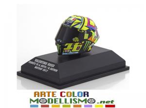 MINICHAMPS PMA ITEM 399 170056 CASCO / HELMET MOTO GP 2017 TRIBUTE VALENTINO ROSSI 1/8 SCALE