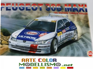 PLATZ HOBBY NUNU MODEL KIT ITEM PN24009 Racing Series Peugeot 306 Maxi 1996 Monte Carlo Rally