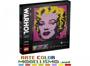 LEGO ART  ITEM 31197 Andy Warhol's Marilyn Monroe