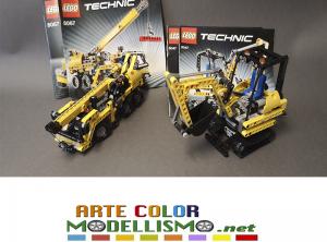 LEGO TECHNIC ITEM 8047 – 8067 ESCAVATORE E MINI GRU MOBILE MONTATI