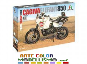 ITALERI 1/9 SCALE MODEL KIT ITEM 4643 CAGIVA ELEPHANT 850