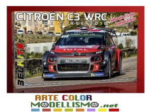 BELKITS ITEM BEL 017 Citroën C3 TOUR DE CORSE RALLY 2018 LOEB 1/24 SCALE MODEL KIT