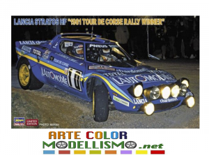 HASEGAWA ITEM 20530 Lancia Stratos Hf 1981 Tour De Corse Rally Winner 1/24 SCALE KIT